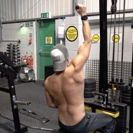 آموزش حرکت زیربغل سیمکش تک از بالا